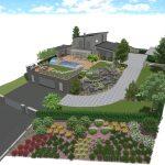 Návrh záhrady - hvozdnica 1